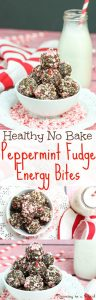 healthy peppermint energy bites