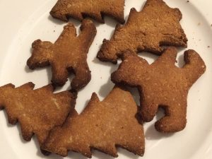 healthy gingerbread biscuits