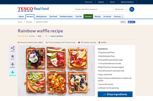 tesco meal plan